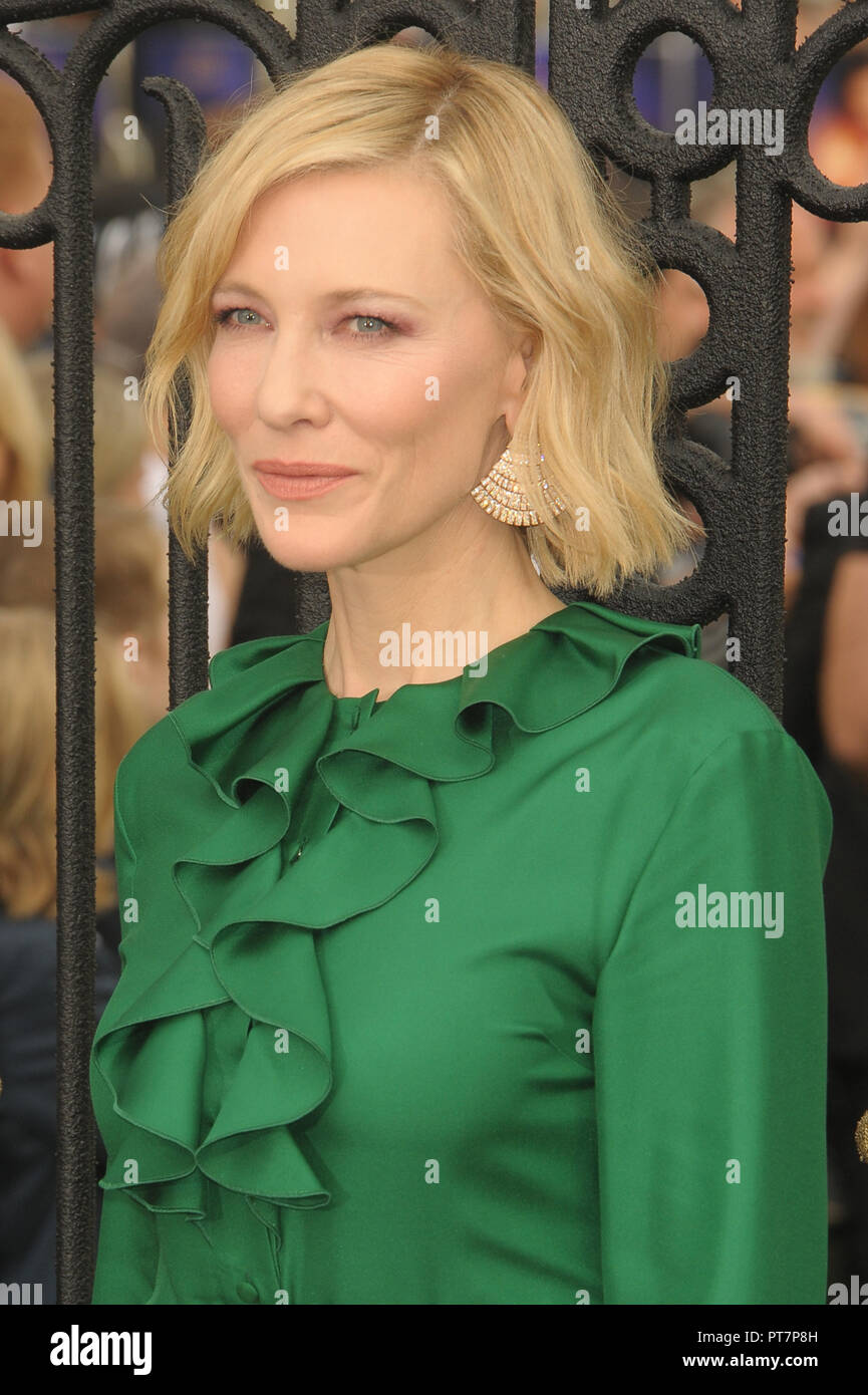 UK premiere of 'The House With The Clock In Its Walls' - Arrivals  Featuring: Cate Blanchett Where: London, United Kingdom When: 05 Sep 2018 Credit: WENN.com - Stock Image