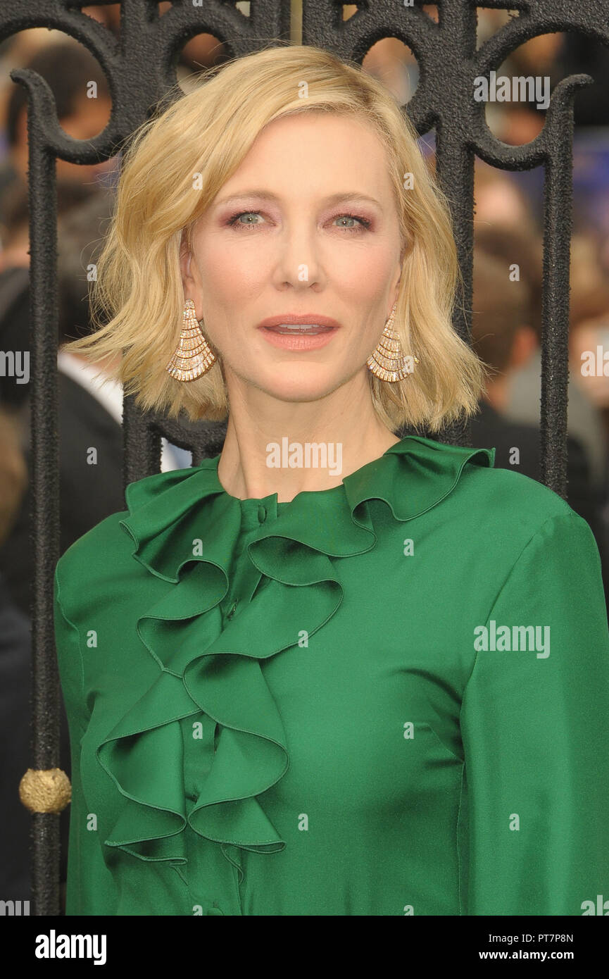 UK premiere of 'The House With The Clock In Its Walls' - Arrivals  Featuring: Cate Blanchett Where: London, United Kingdom When: 05 Sep 2018 Credit: WENN.com Stock Photo