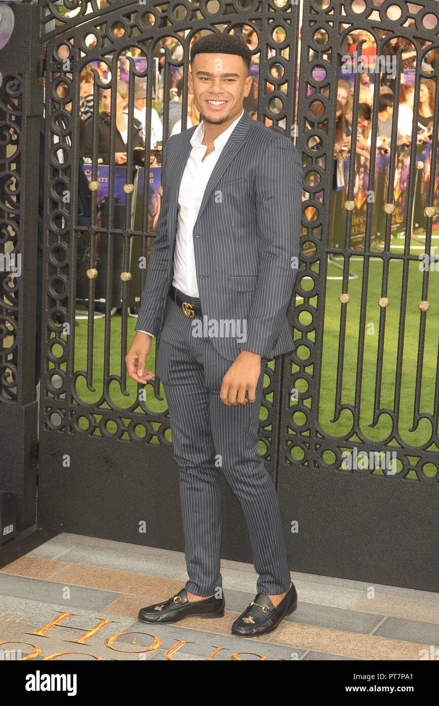 UK premiere of 'The House With The Clock In Its Walls' - Arrivals  Featuring: Wes Nelson Where: London, United Kingdom When: 05 Sep 2018 Credit: WENN.com - Stock Image