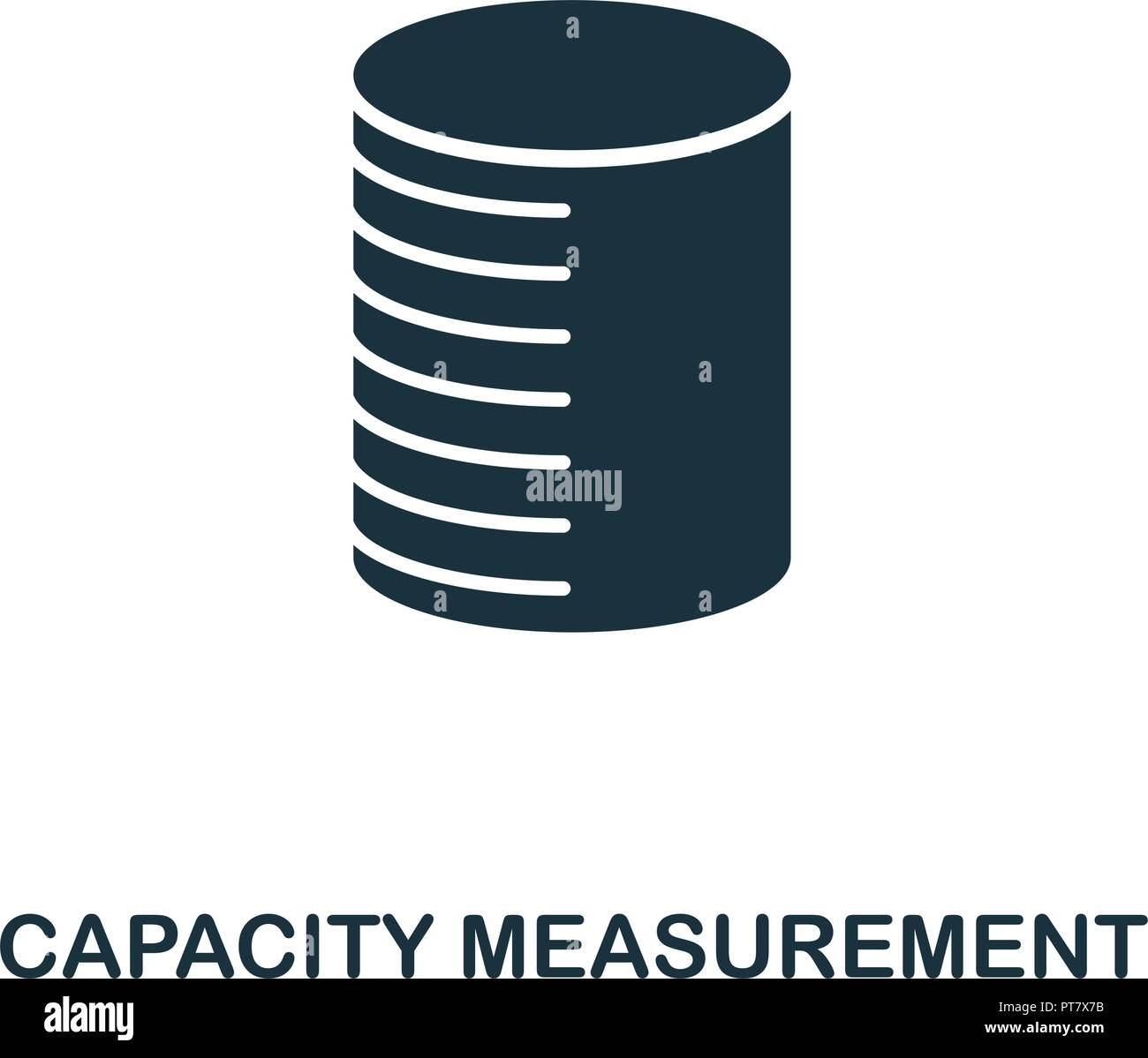 Capacity Measurement icon. Monochrome style design from measurement collection. UX and UI. Pixel perfect capacity measurement icon. For web design, ap - Stock Vector
