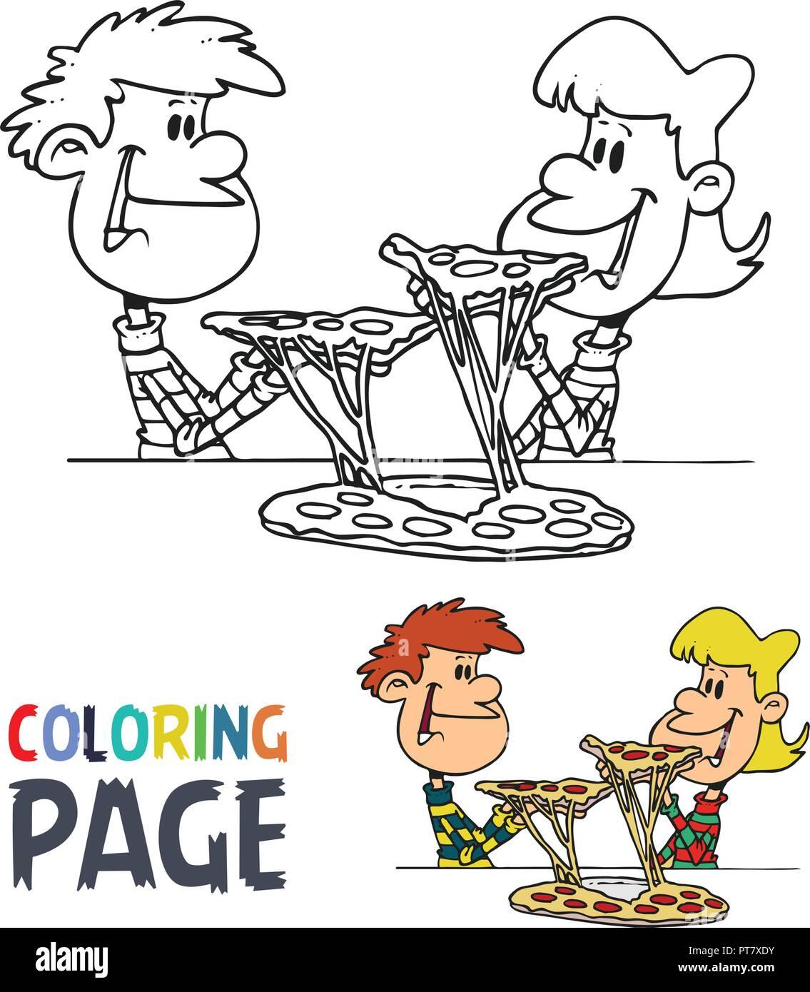 Pizza Cartoon Stock Vector Images Alamy