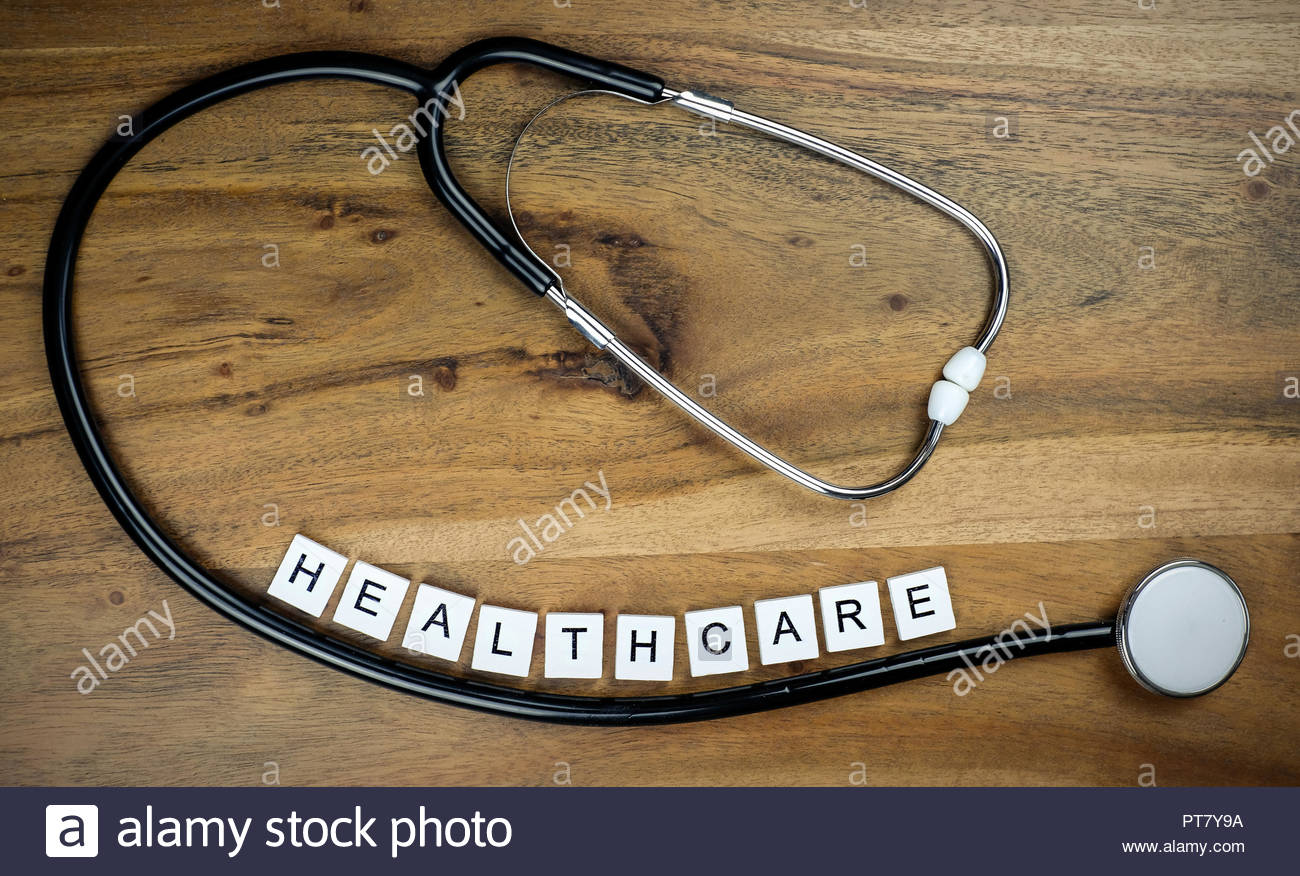 Healthcare - improvement of health via the prevention - Stock Image