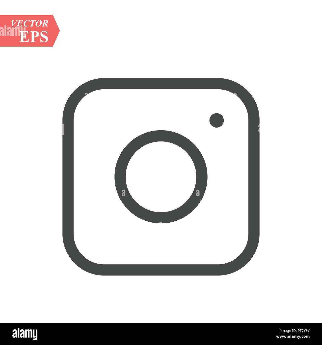 Camera Icon Flat Photo Camera Vector Isolated Modern Simple