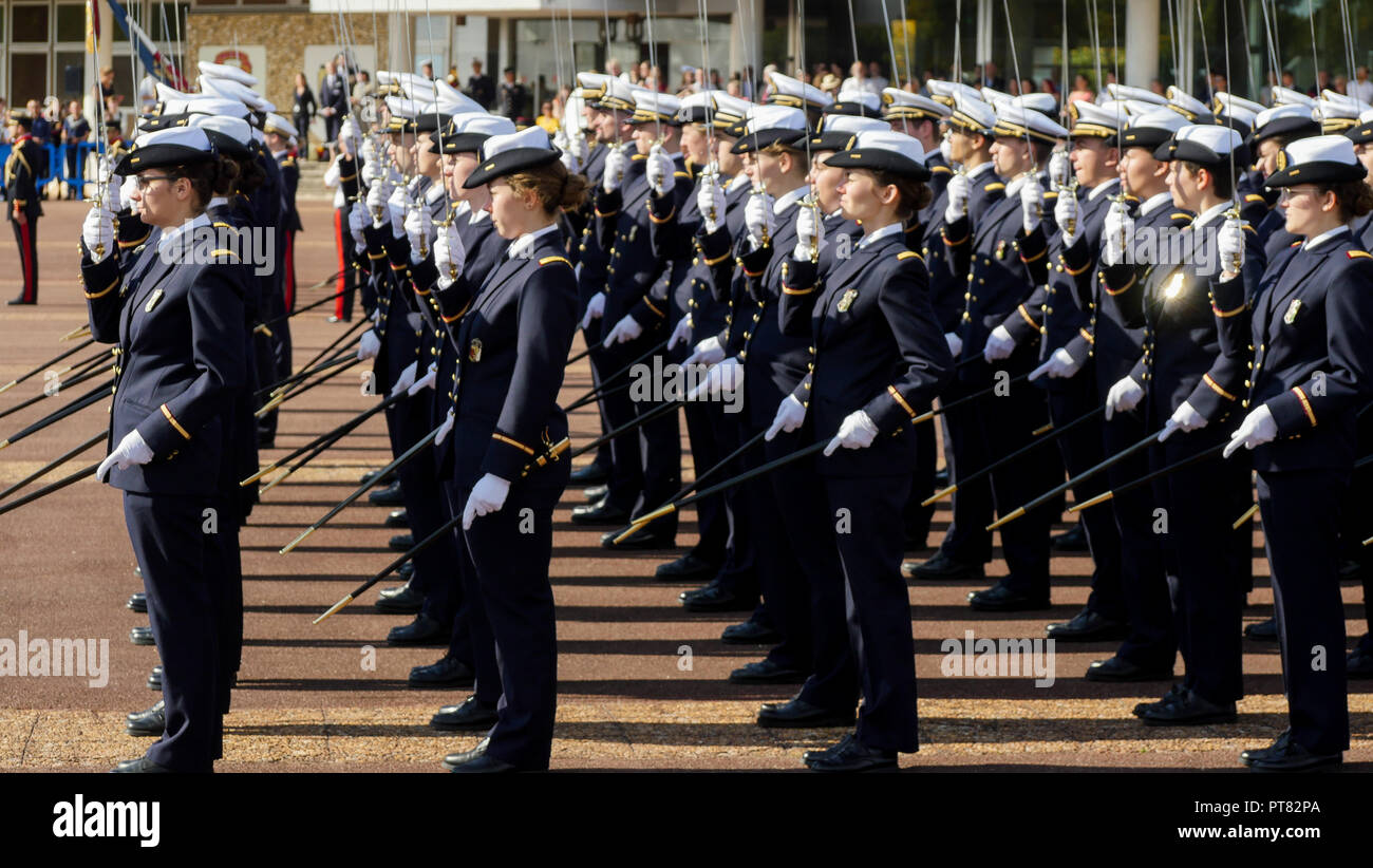 Naming ceremony at ESA, French Military Heath School, Bron, France - Stock Image