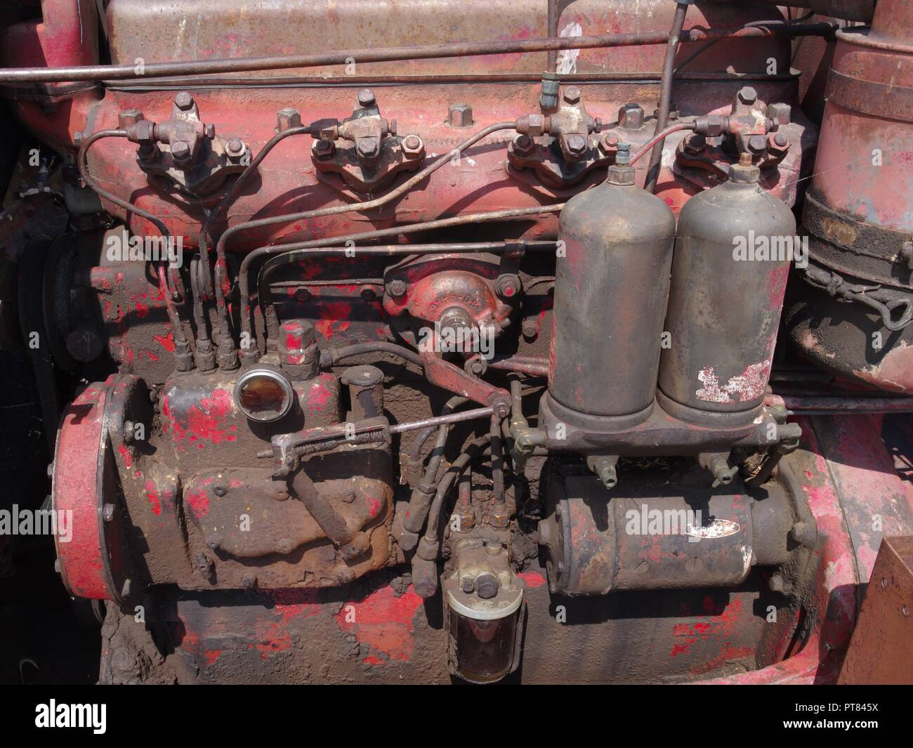 Diesel engine, farm tractor, Brian Martin RMSF, large file size Stock Photo