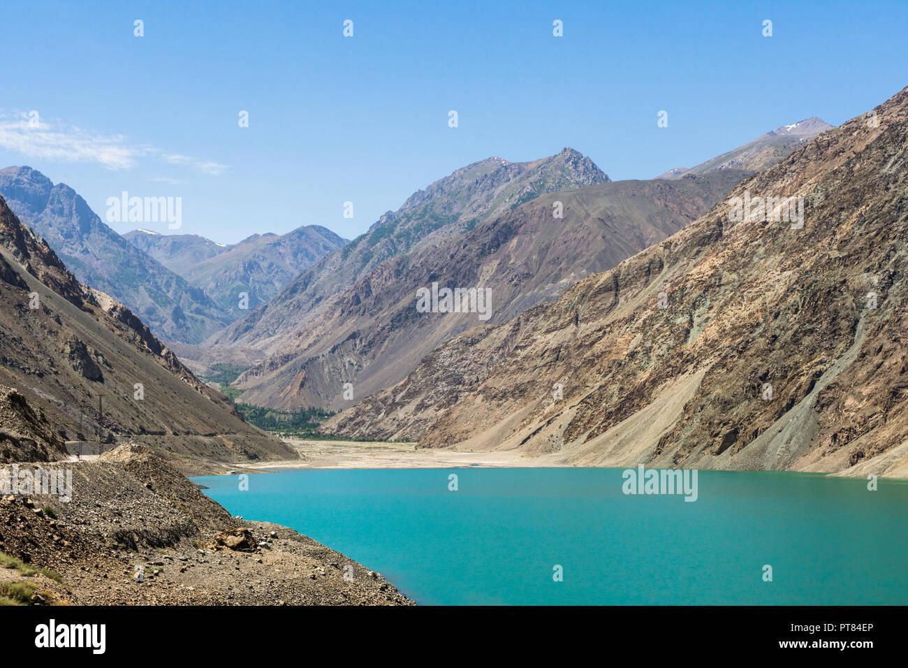 Sadpara lake, Skardu, Gilgit-Baltistan, Pakistan - Stock Image