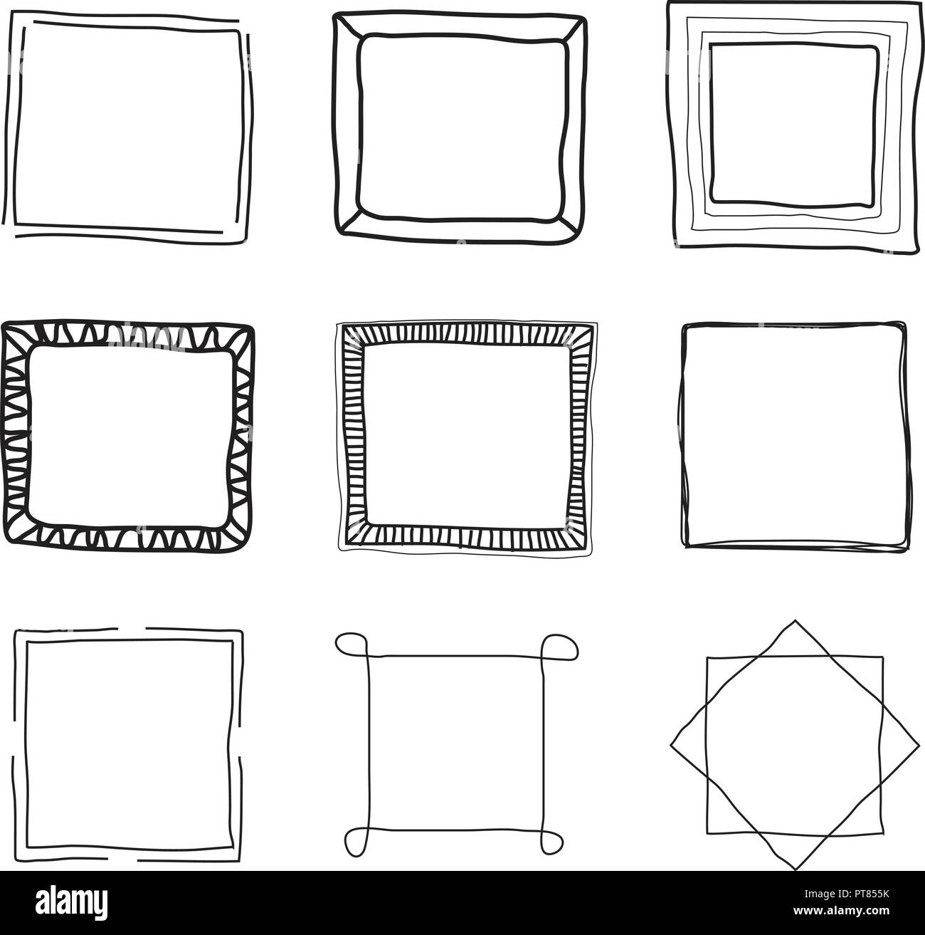 Decorative Thin Black Line Wiring Diagrams How To Wire A 220 Volt Gfci Omegadiamondcom Vector Collection Of Frame Borders Frames Rh Alamy Com Dotted Large