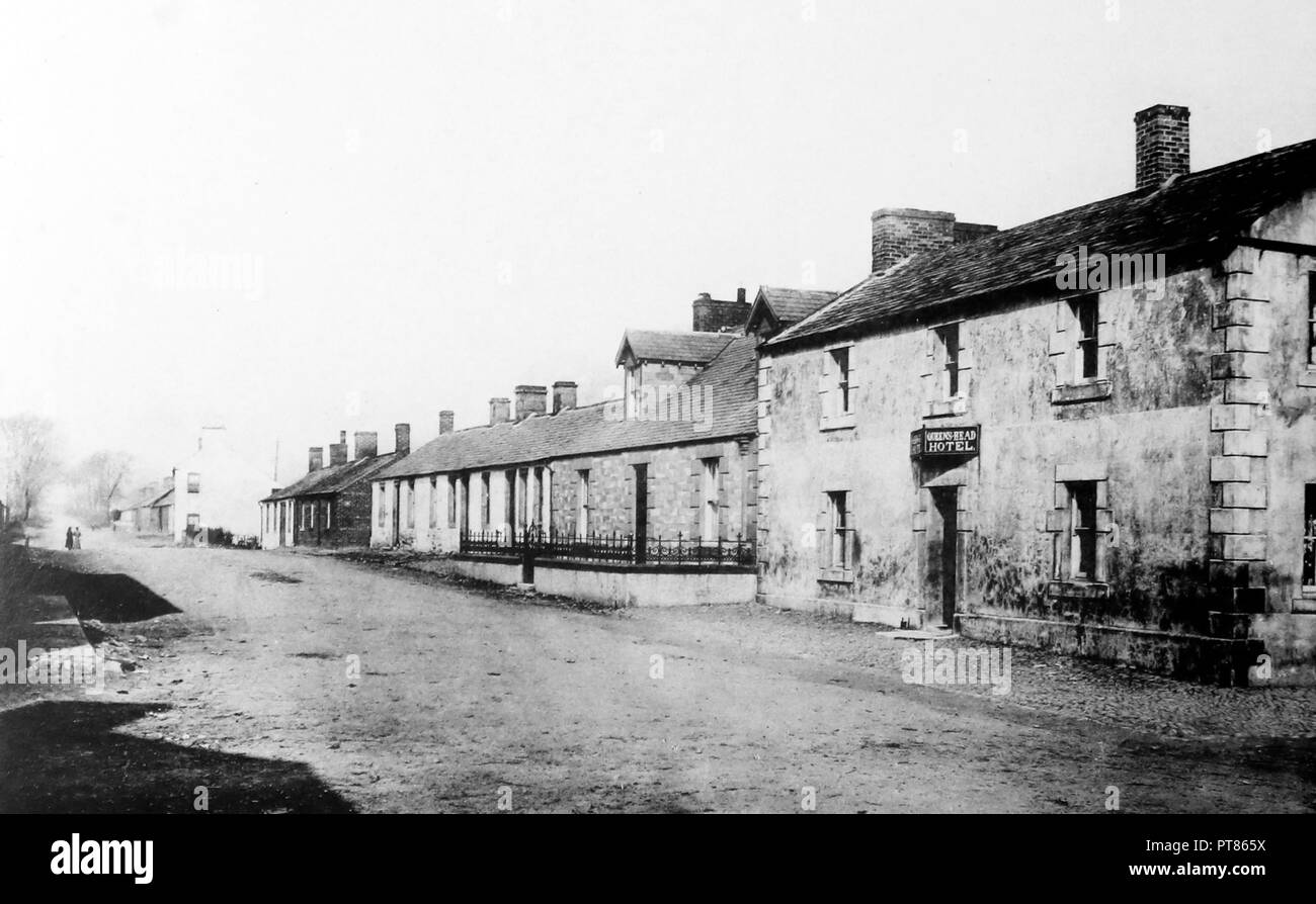 Queen's Head Hotel,Gretna Green, early 1900s - Stock Image