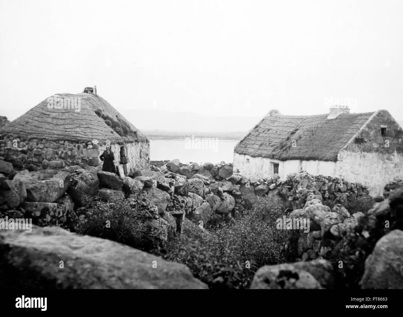 Derrynea, West of Ireland, early 1900s - Stock Image