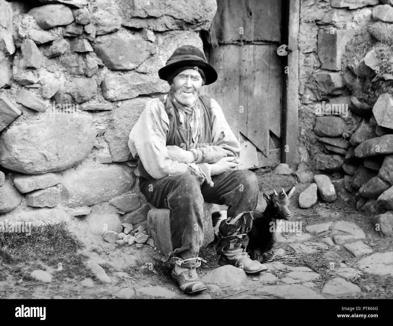 Tenant of a mountain farm, West of Ireland, early 1900s - Stock Image