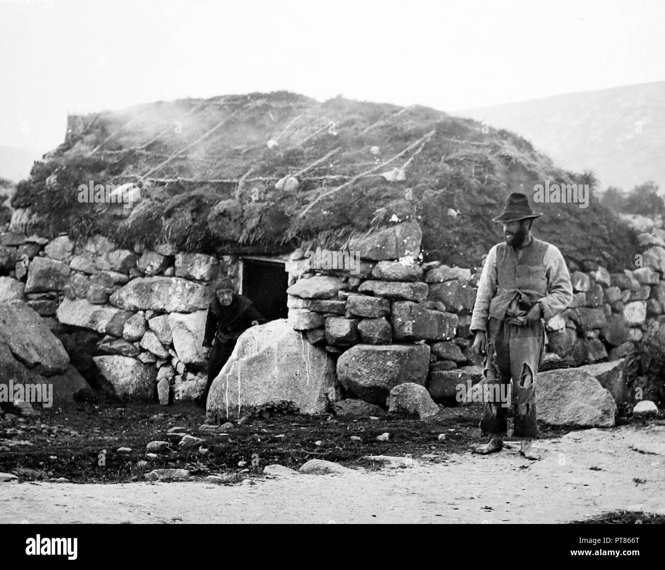 Kilkieran, West of Ireland, early 1900s - Stock Image