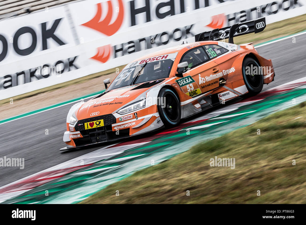 Misano Adriatico, Italy - August 25, 2018: A Hoffmann Group Audi RS 5 DTM of Audi Sport Team ...
