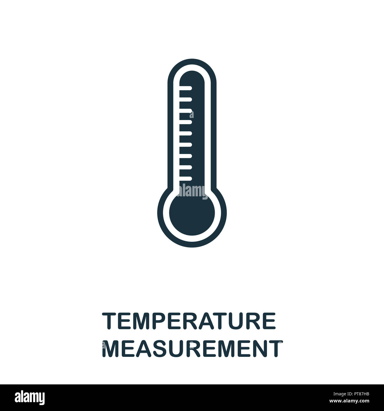 Temperature Measurement icon. Monochrome style design from measurement collection. UX and UI. Pixel perfect temperature measurement icon. For web desi - Stock Image