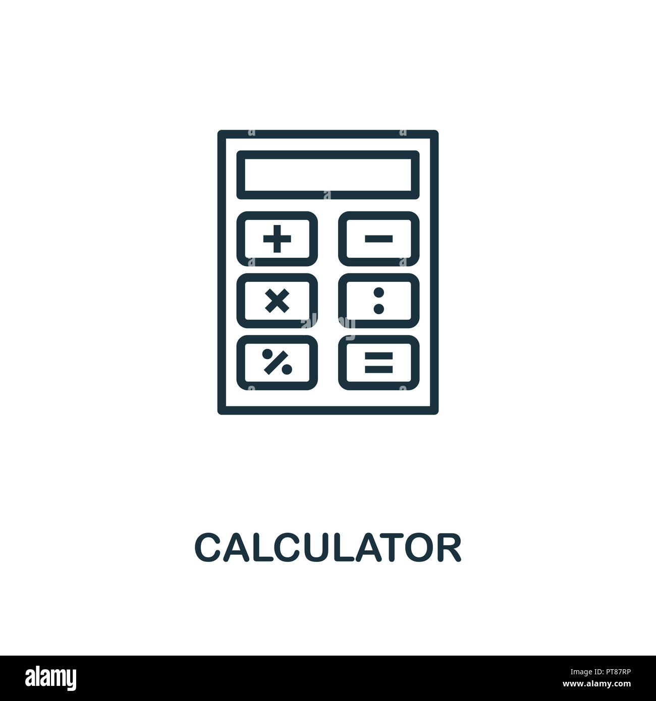 Calculator icon  Monochrome style design from measurement