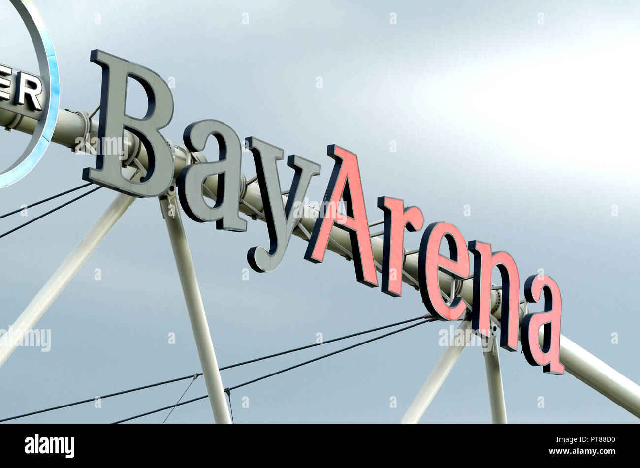 Leverkusen, Germany - September 15, 2018: BayArena football stadium - Stock Image