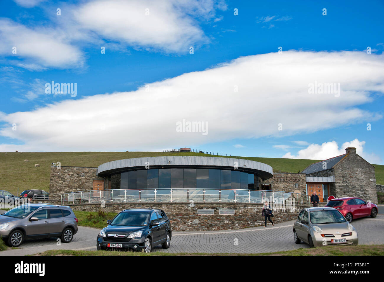 The Sound Restaurant at the Sound,  Isle of Man on  a bright day - Stock Image