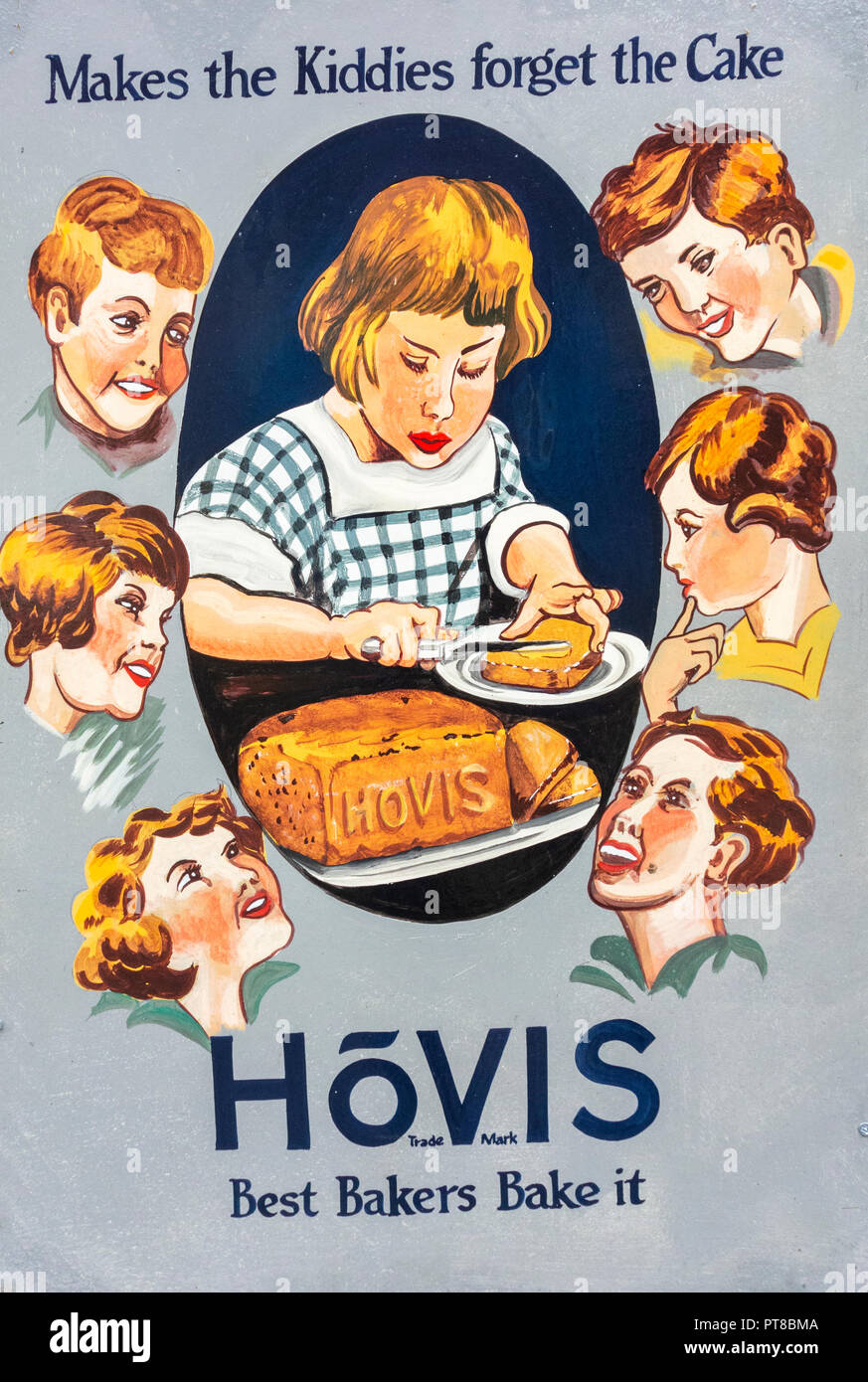 Vintage Hovis bread poster - Stock Image