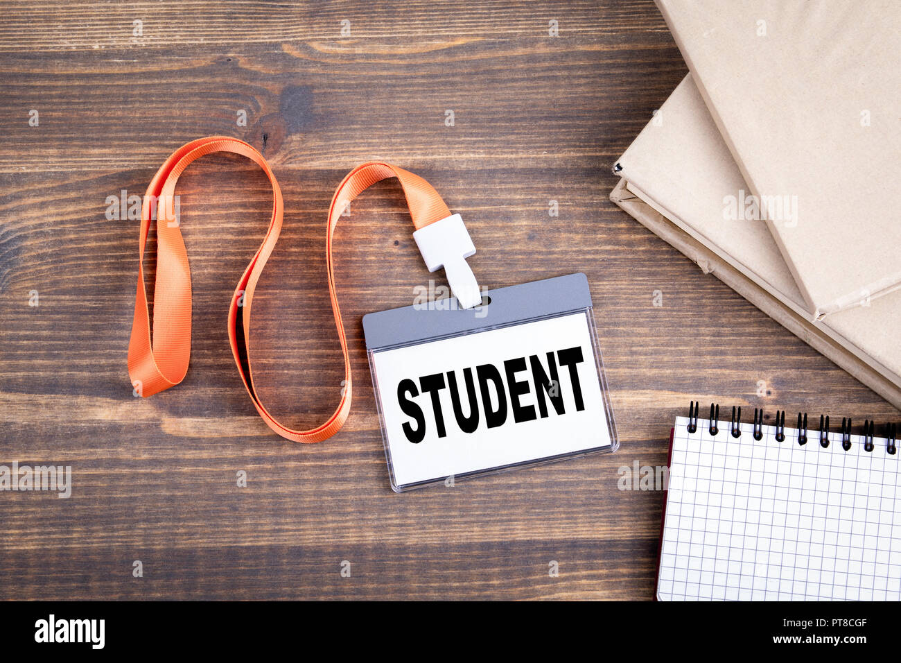 Identification card with text student - Stock Image
