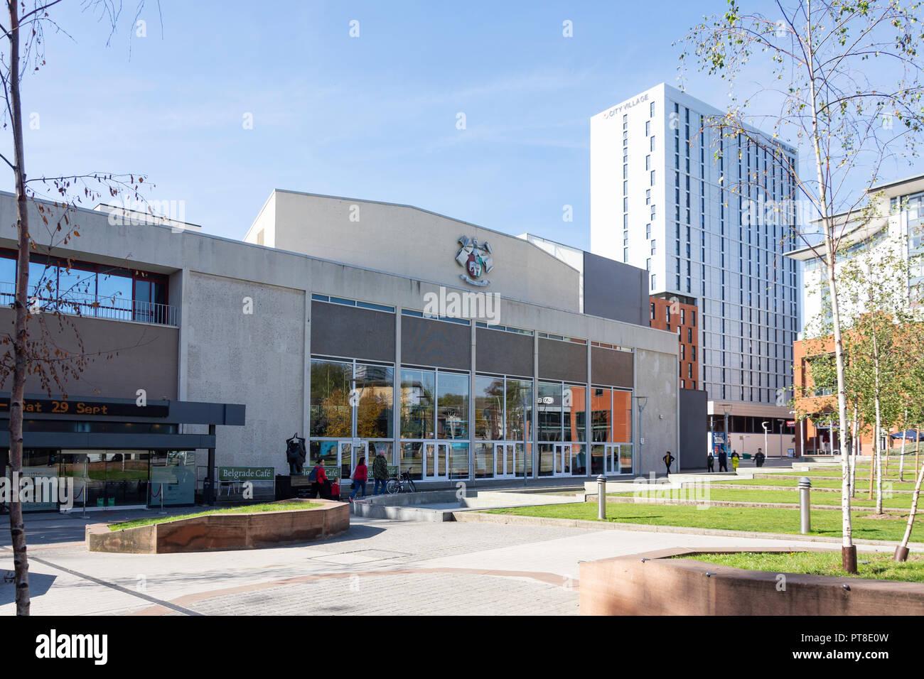 Belgrade Theatre, Belgrade Square, Coventry, West Midlands, England, United Kingdom - Stock Image
