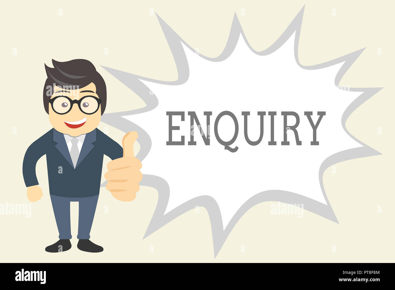 Handwriting text Enquiry. Concept meaning Asking for information Official investigation discover facts Inquiry. - Stock Image