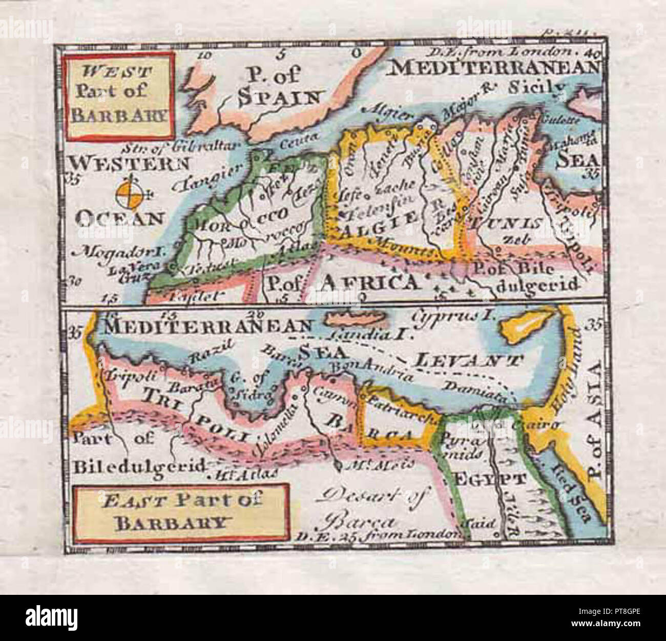 Map of north Africa taken from A New and easy introduction to the