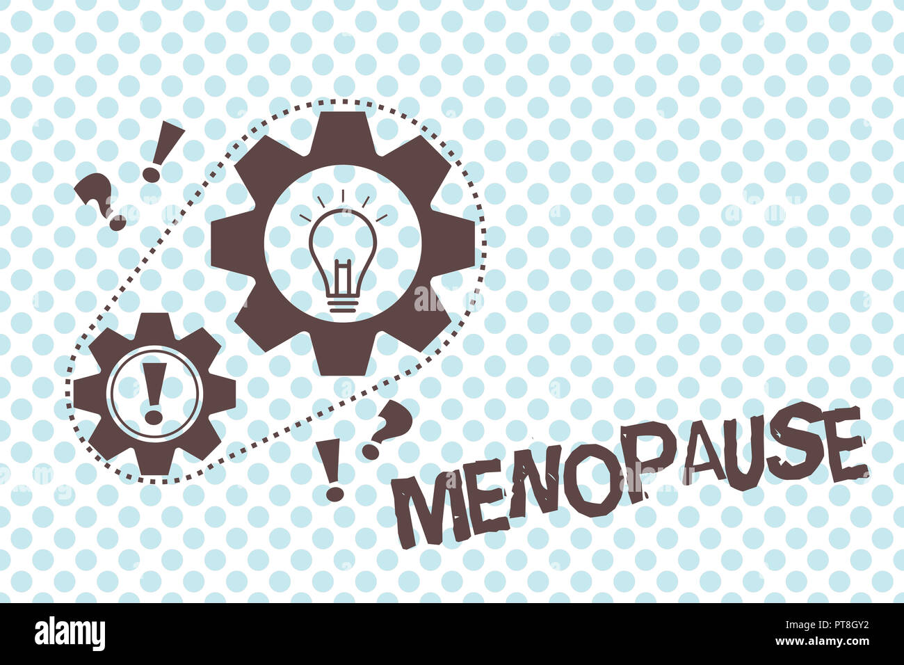 Writing note showing Menopause. Business photo showcasing Cessation of menstruation Older women hormonal changes period. - Stock Image