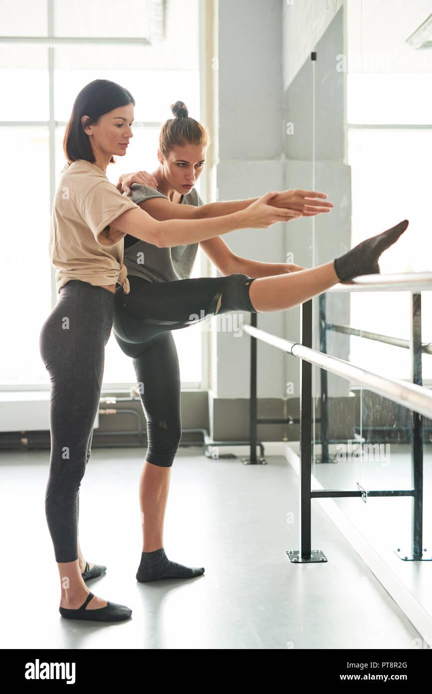 deae76fc50e Dance Teacher Student Ballet Bar Stock Photos   Dance Teacher ...