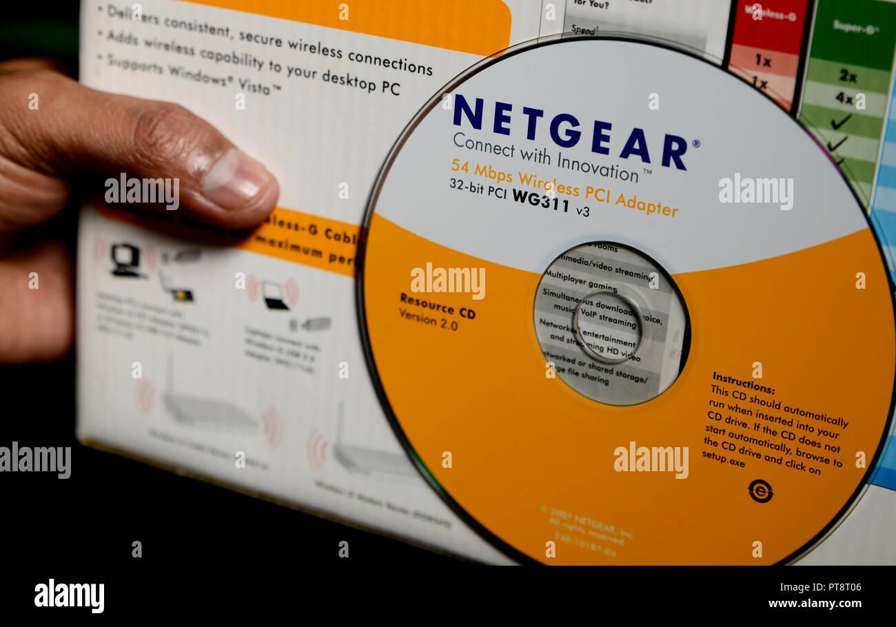 Netgear Wi Fi Router Stock Photo 221470598 Alamy Modem Wiring Diagram