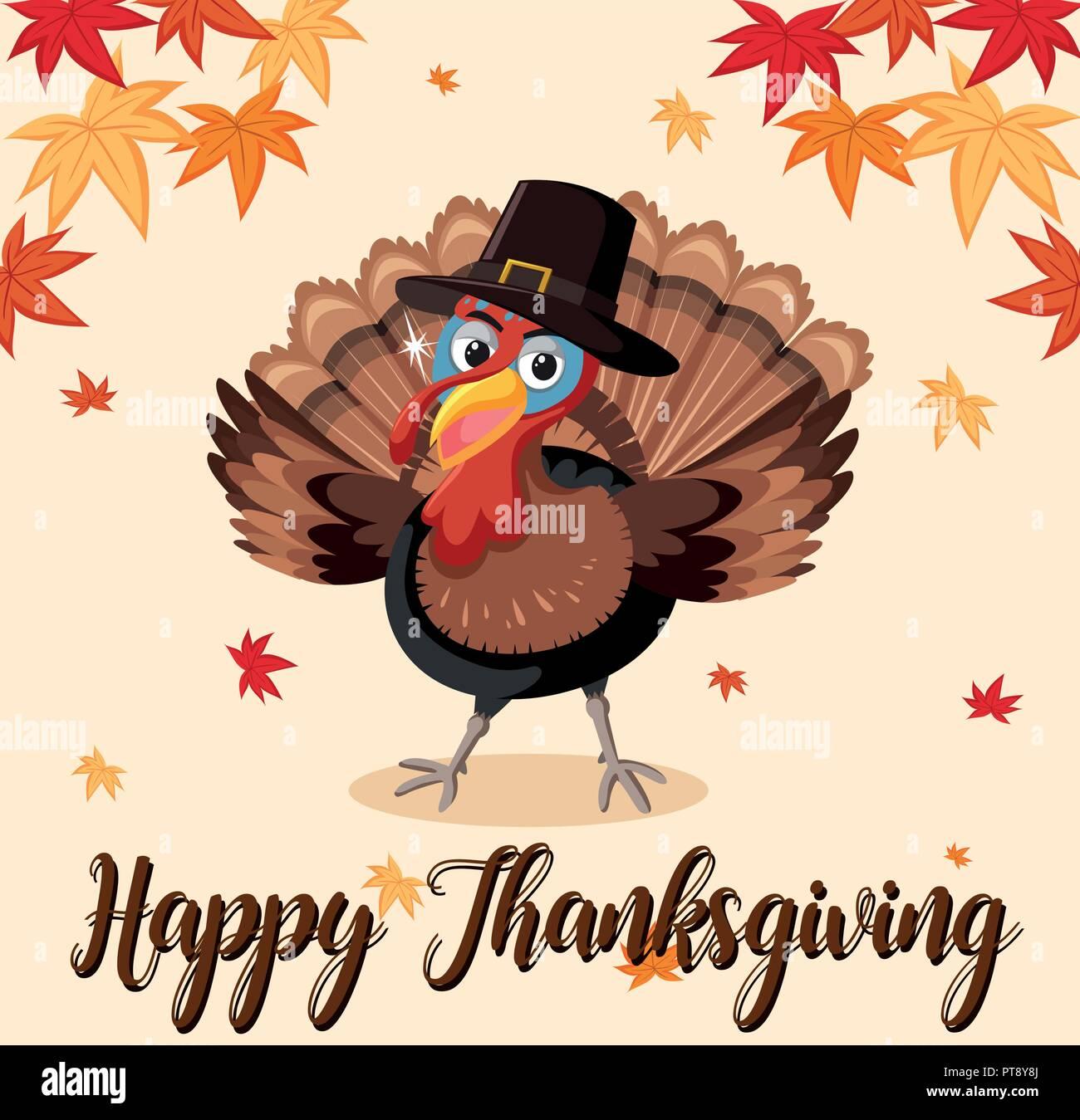 happy thanksgiving turkey template illustration stock vector art