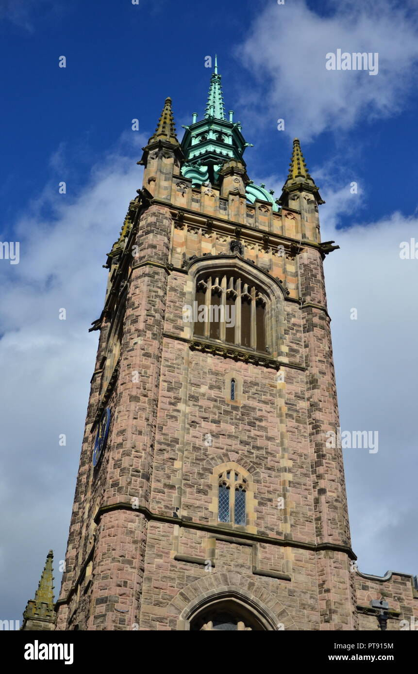Belfast city skyline, Fisherwick Presbyterian Church - Stock Image