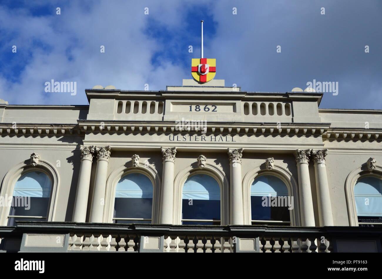 Belfast city skyline, Ulster Hall - Stock Image