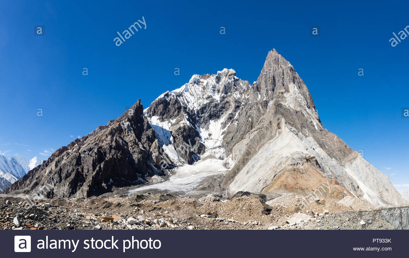 Mitre Peak, Karakoram, Gilgit-Balistan, Pakistan - Stock Image