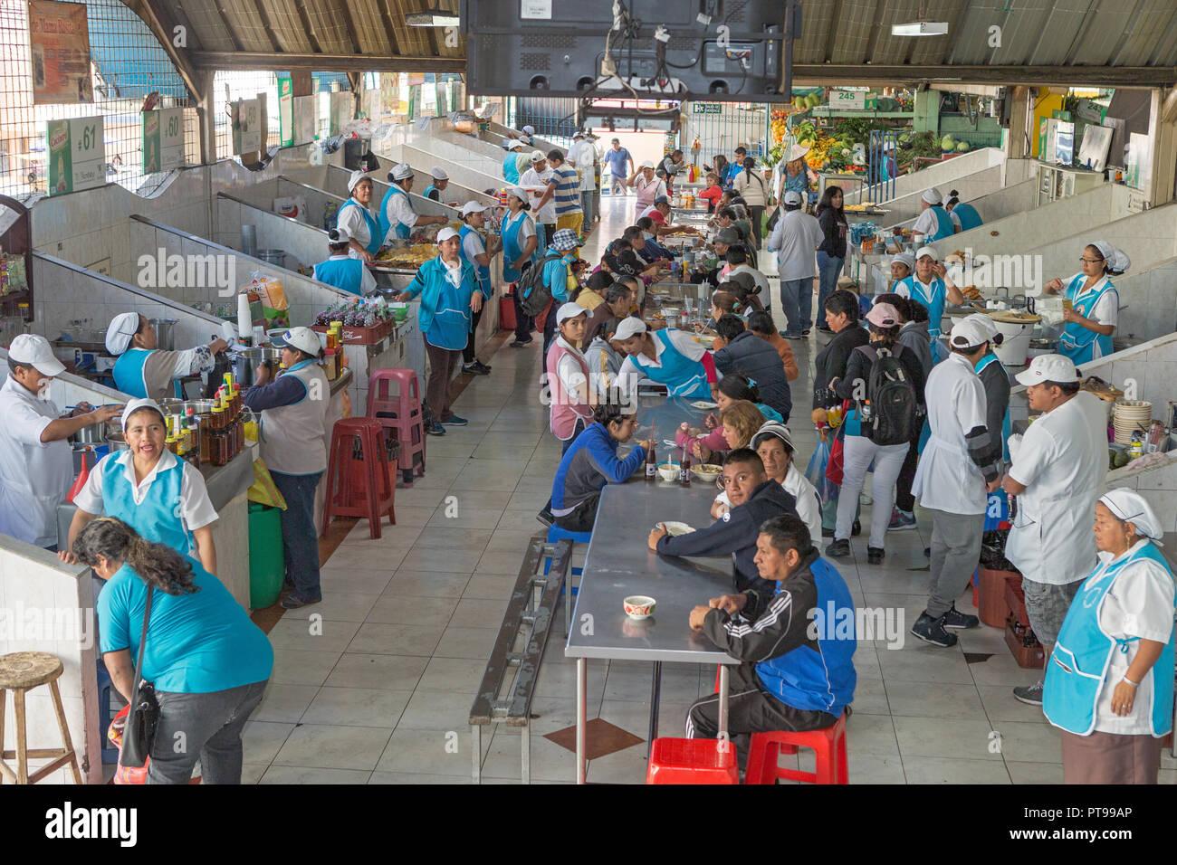 Saint John of Sangolqui food market, Ecuador, - Stock Image