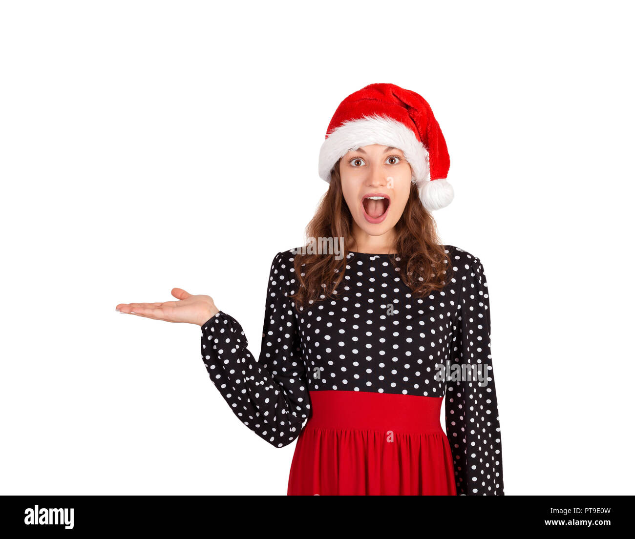 c63cce3682056 Girl in dress surprise recommend you to use this copy space. emotional girl  in santa