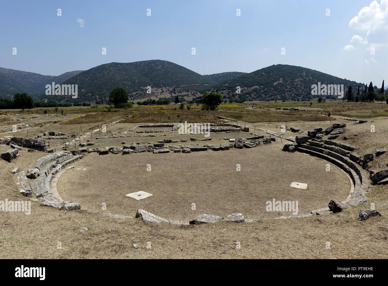 the 4th century bc ancient greek theatre located at the ancient