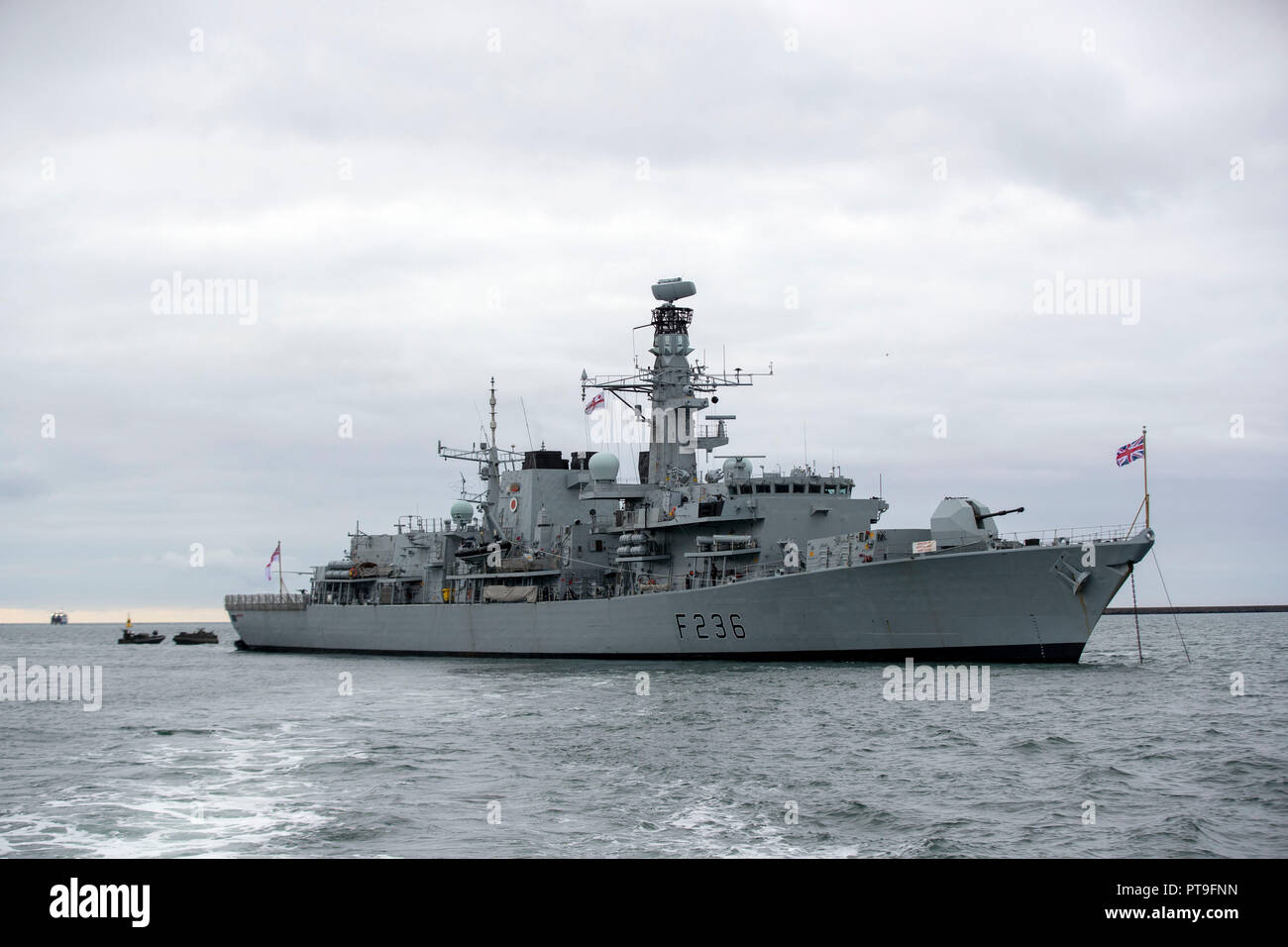 A general view of HMS Montrose at HMNB Devonport, Plymouth. Stock Photo