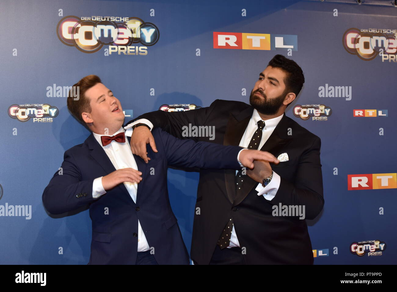 07 October 2018 North Rhine Westphalia Cologne Comedian Chris Tall L And Faisal Kawusi Will Come