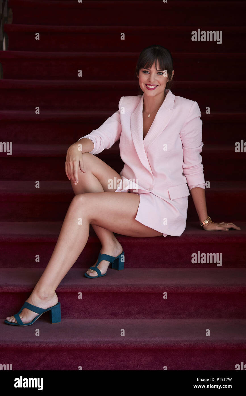 Madrid, Spain  3rd Oct, 2018  Spanish actress Cristina Abad poses