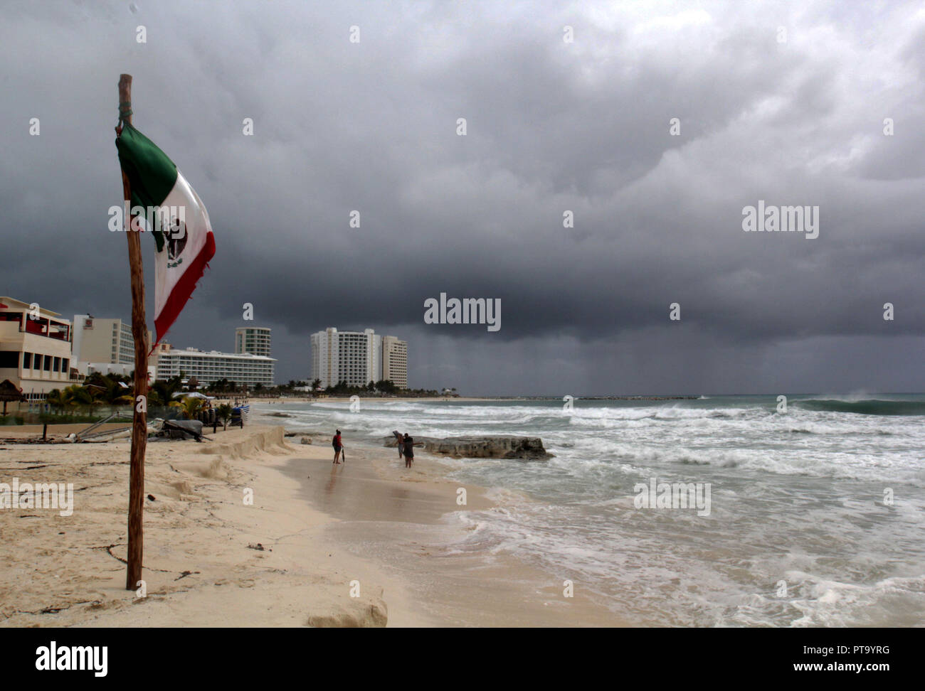 A View Of The Effects Of Hurricane Micharl In Cancun Quintana Roo Mexico 08 October 2018
