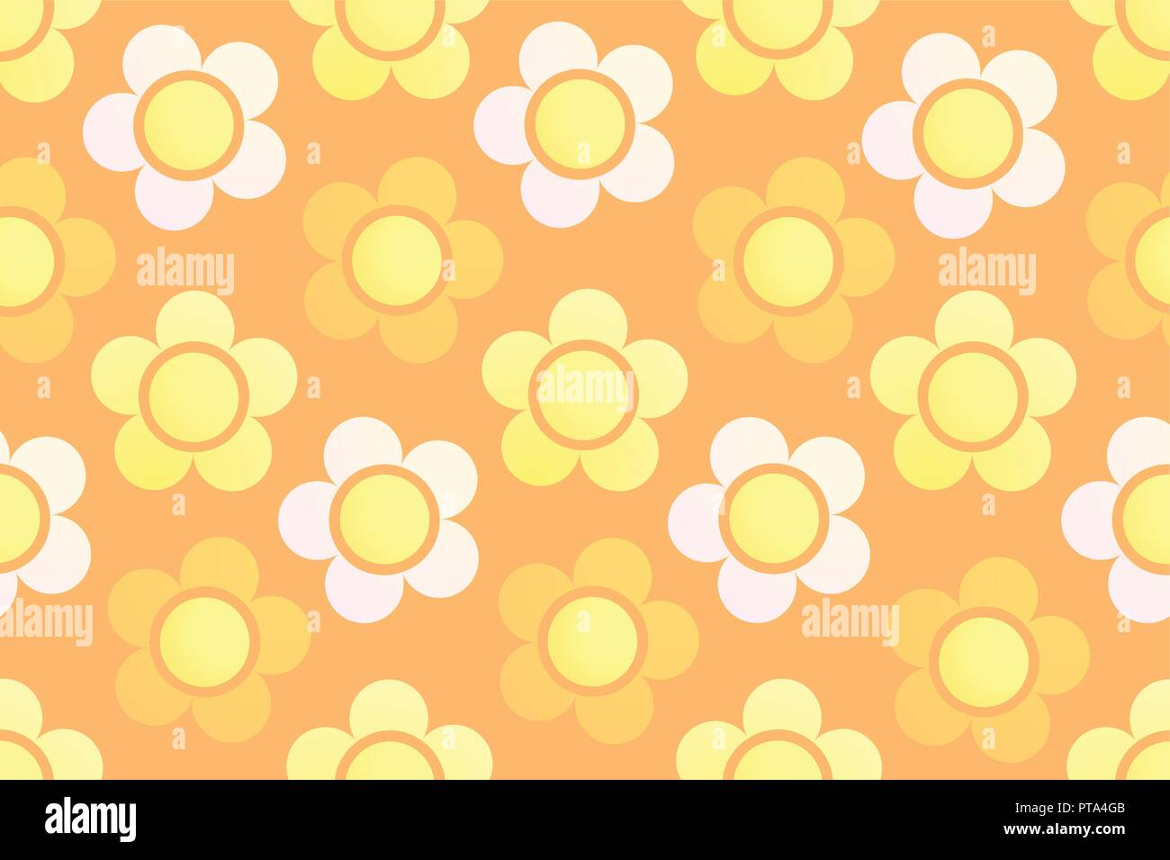 Colorful Flowers On Vector Wallpaper Seamless Background With