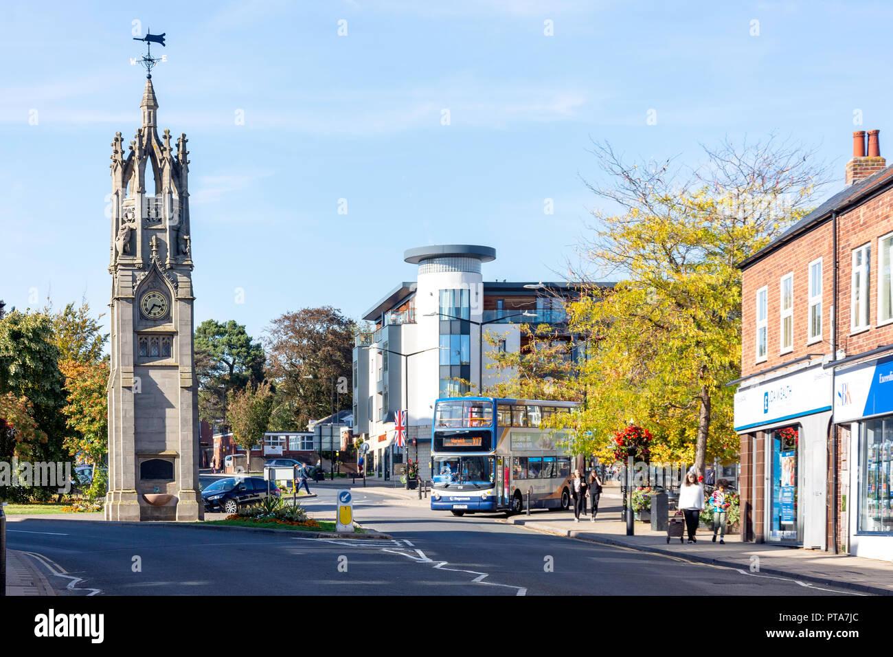 Clock Tower, Abbey End, Kenilworth, Warwickshire, England, United Kingdom - Stock Image