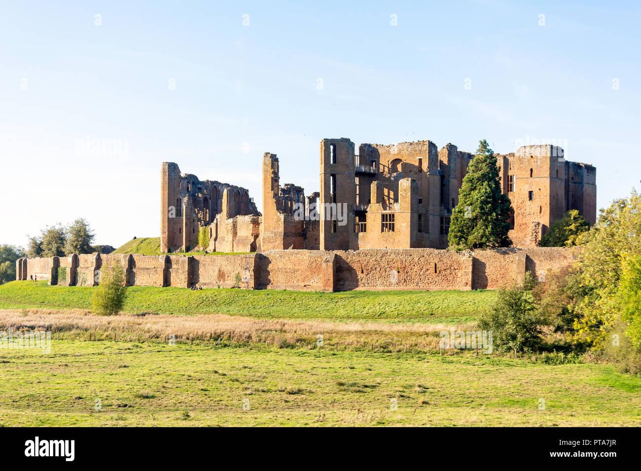 Kenilworth Castle, Kenilworth, Warwickshire, England, United Kingdom - Stock Image