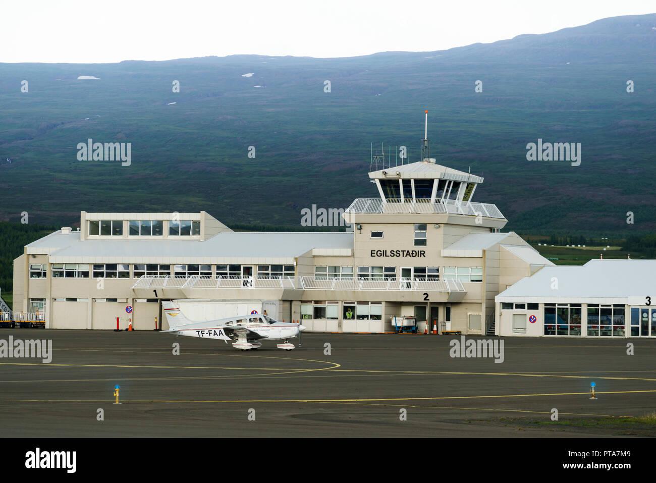Egilsstadir Airport, Egilsstadir Eastern, Iceland - Stock Image