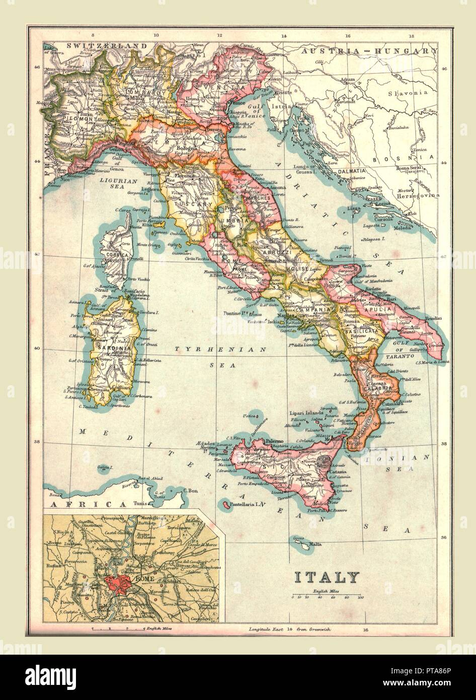 Map Of Italy And Regions Stock Photos Map Of Italy And Regions
