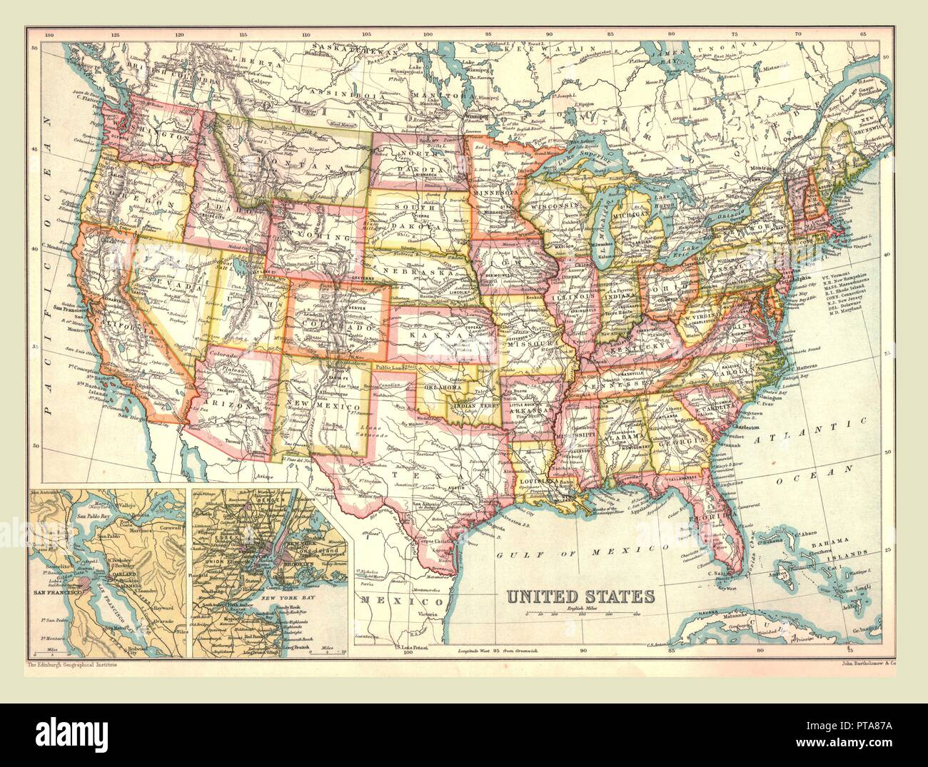 Map of the United States, 1902. Creator: Unknown Stock Photo ...  D Map States on state time, state puzzle, state of alabama, state initials, state populations in order, state population density, state parks in north alabama, state of obesity, state function, state flag, state capitals, state list, state newspaper, state climate, state of south dakota website, state names, state topography, state of louisiana, state of al counties, state city,