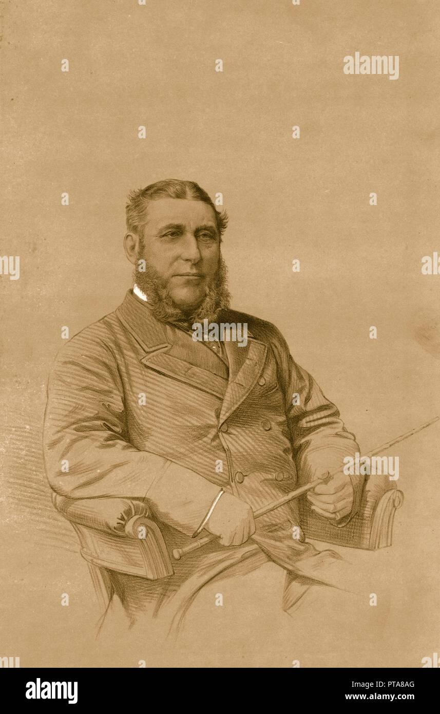 'Mr.T.T. Drake', 1879. Thomas Tyrwhitt Drake (1817-1888), cattle breeder and hunt master. From The Sporting Gazette and Agricultural Journal, 20th September 1879. - Stock Image