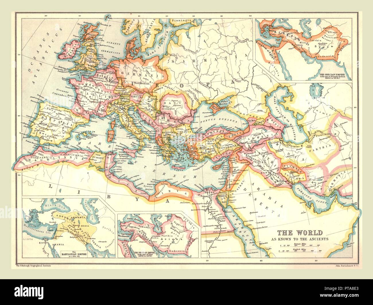 Ancient Roman Map Of The World.Map Of The Ancient World 1902 Showing Europe North Africa And
