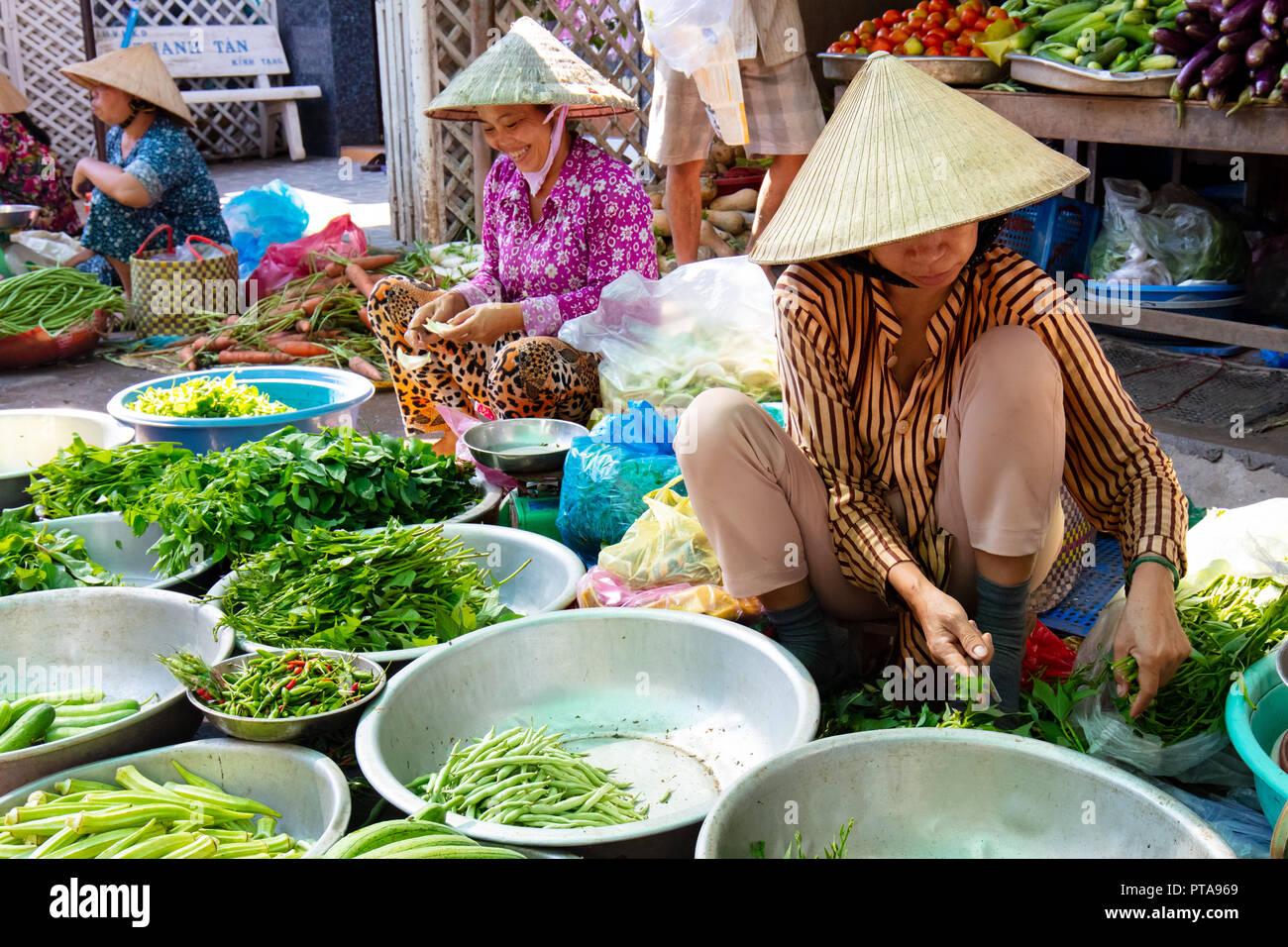 Cai Be Market Stall - Stock Image