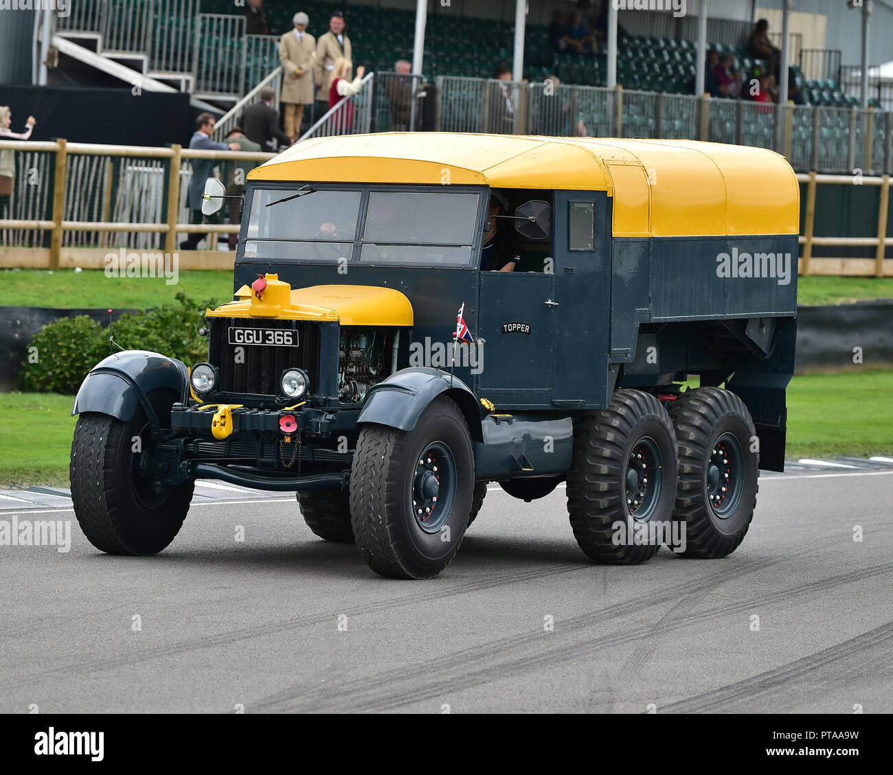 Scammell Pioneer 6X4, British Transport Parade, Goodwood Revival 2018, September 2018, automobiles, cars, circuit racing, Classic, competition, Englan - Stock Image