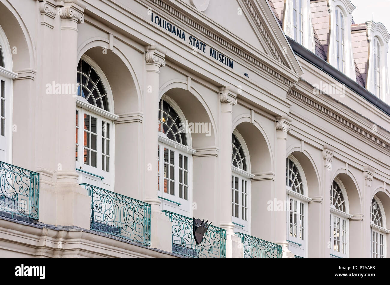 The Louisiana State Museum Cabildo is pictured in Jackson Square, November 11, 2015, in New Orleans, Louisiana. - Stock Image